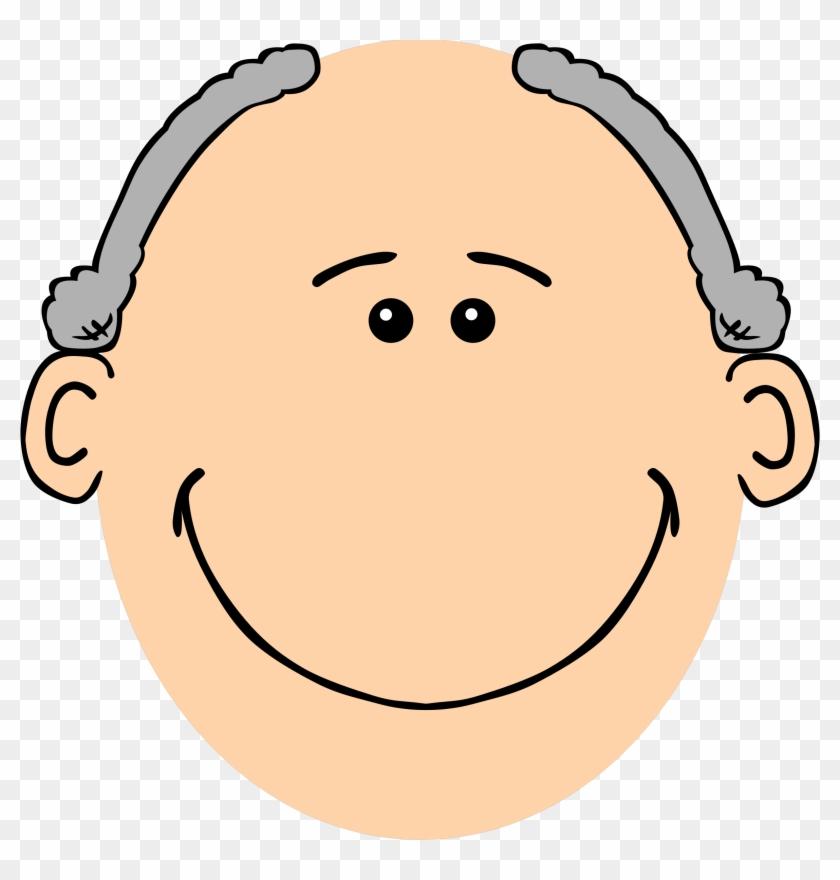Grandpa Grey - Cartoon Man Face #781806