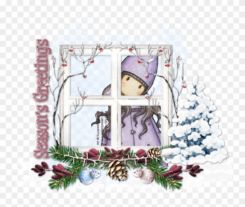 Again I Am Using A Christmas Theme With Only Four Weeks - Winter Snow Baby Christmas Round Ornament #781858