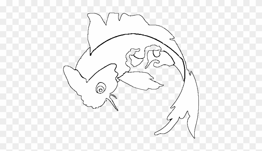 Koi Carp Fish Coloring Pages Coloring Pages | 485x840