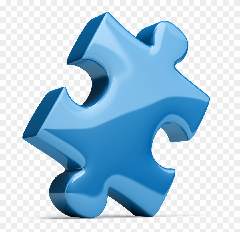 Generous Clipart - Blue Jigsaw Puzzle Piece #782886