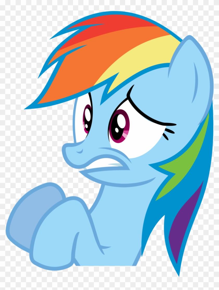 Rainbow Dash Vector - Rainbow Dash Scared Face #782980
