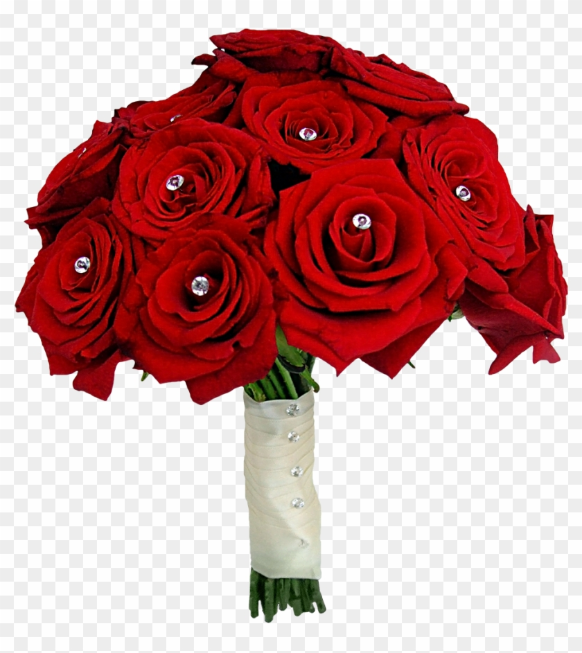 Red Flower Clipart Red Rose Bouquet - Rose Flower Bokeh Png - Free