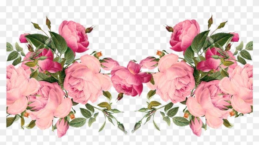 Free Digital Images Vintage, Gif And Clip Art - Vintage Red Rose Border -  Free Transparent PNG Clipart Images Download