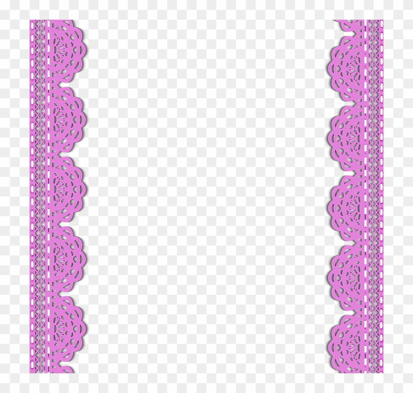Pink Borders Cliparts - Renda Pink Png - Free Transparent ...