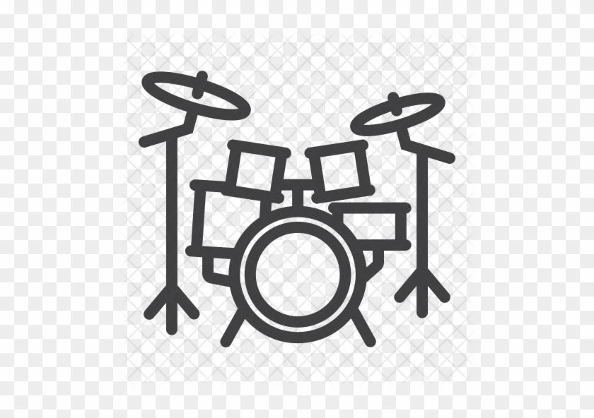 Drum Kit Icon - Drum Set Icon #783746