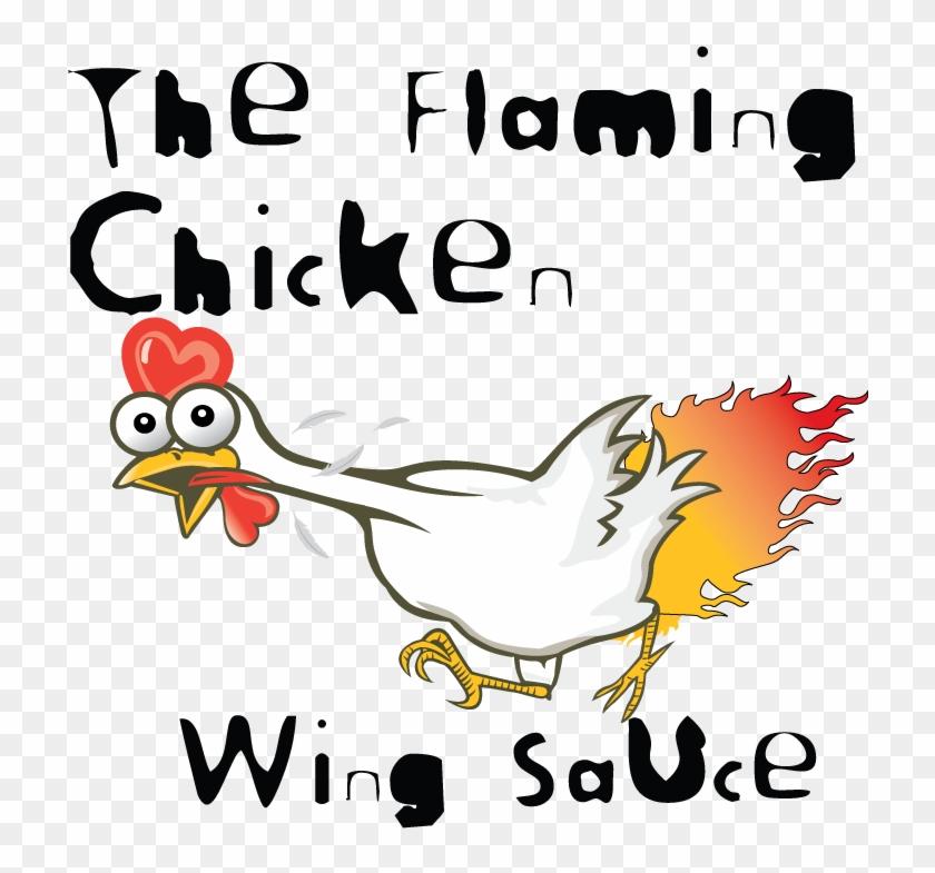 Pin Chicken Wing Clip Art - Flaming Chicken #784096