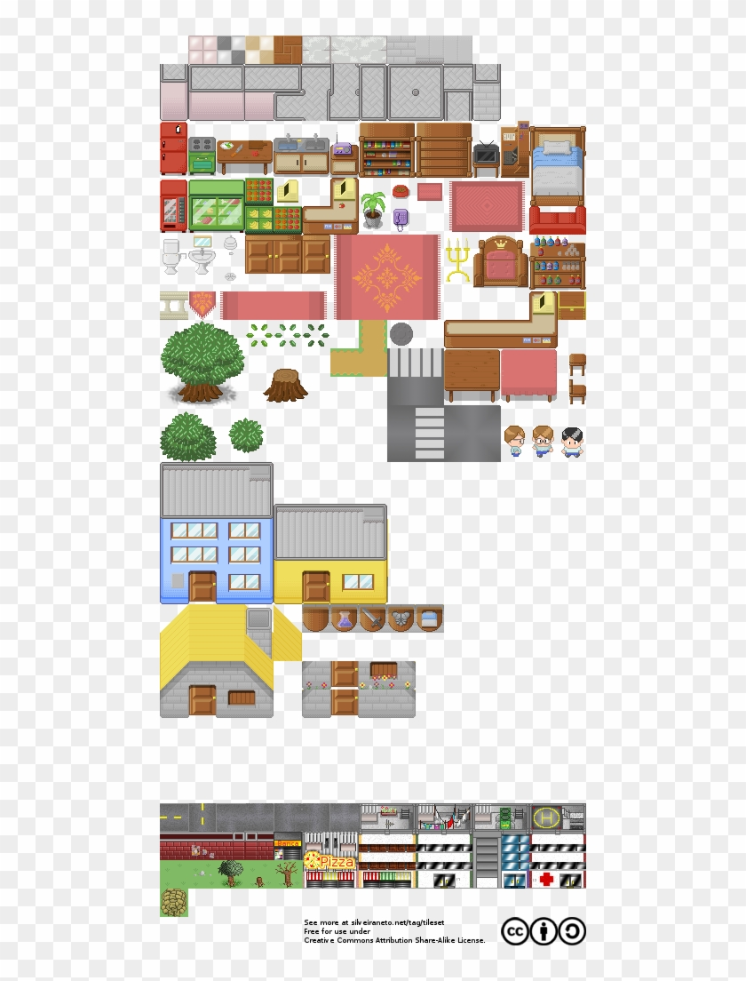 Free Tileset Version - Free House Tileset - Free Transparent PNG