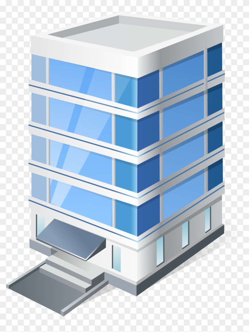 Icon Office Building Clipart - Office Building Icon #784815