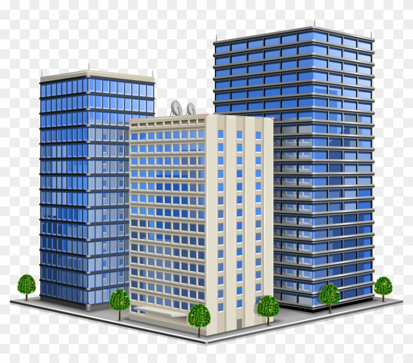 Advantages Of Opening R&d Office In Ukraine - Office Building Icon Vector #784833