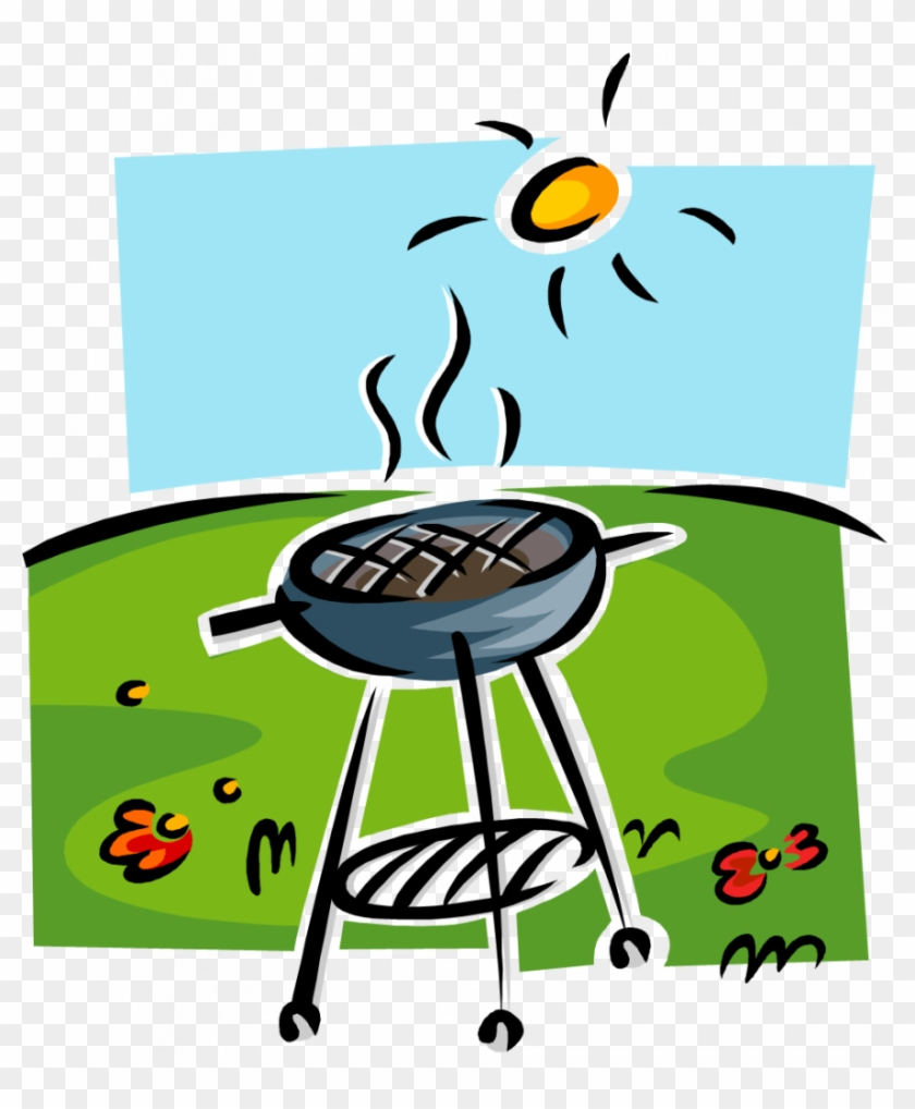 end of year bbq basket raffle barbecue clipart 784948