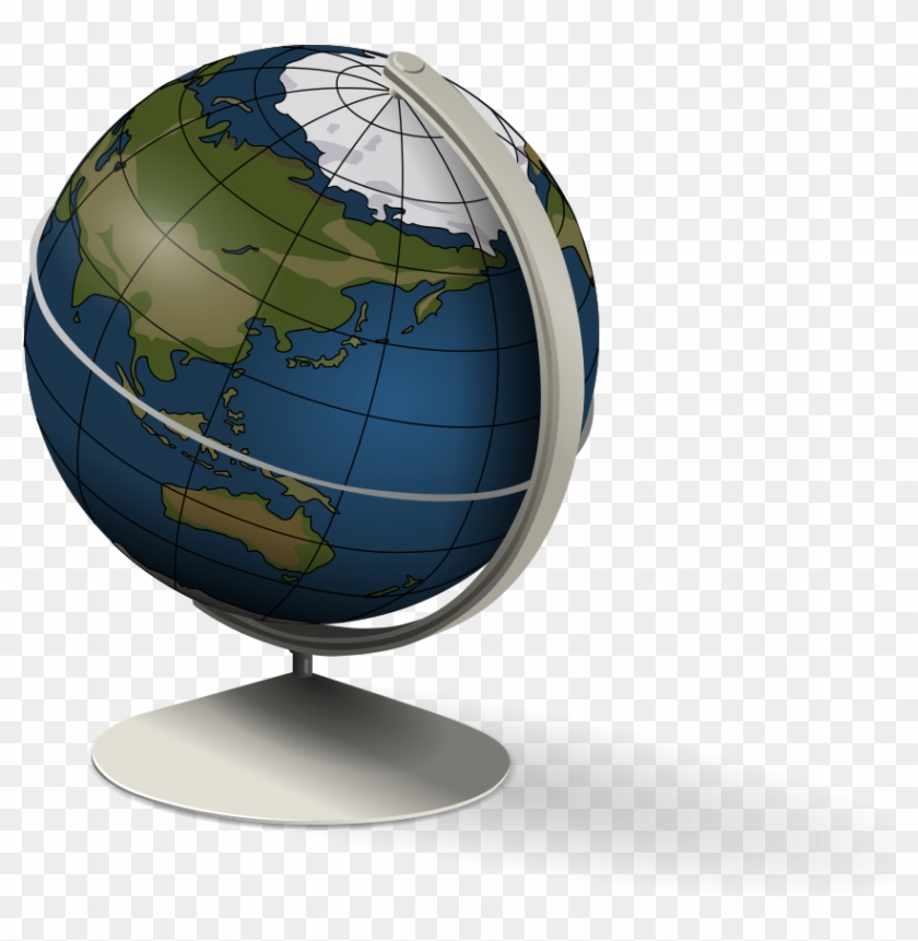 Globe 3d Clipart Vector Clip - Spinning Earth Animation For Powerpoint #785017