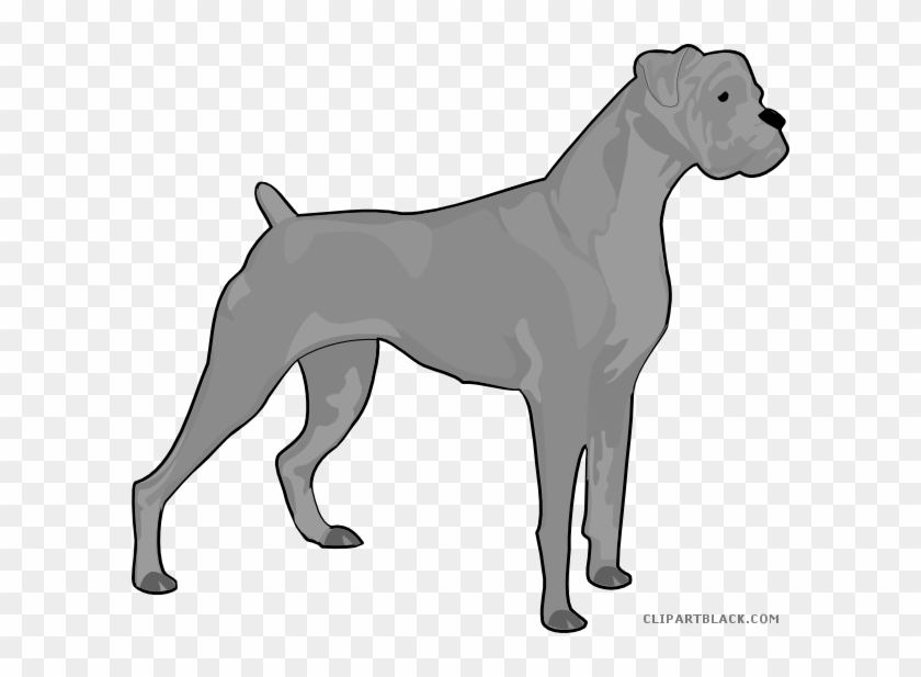 Dog Silhouette Animal Free Black White Clipart Images - Boxer Dog Silhouette #785433
