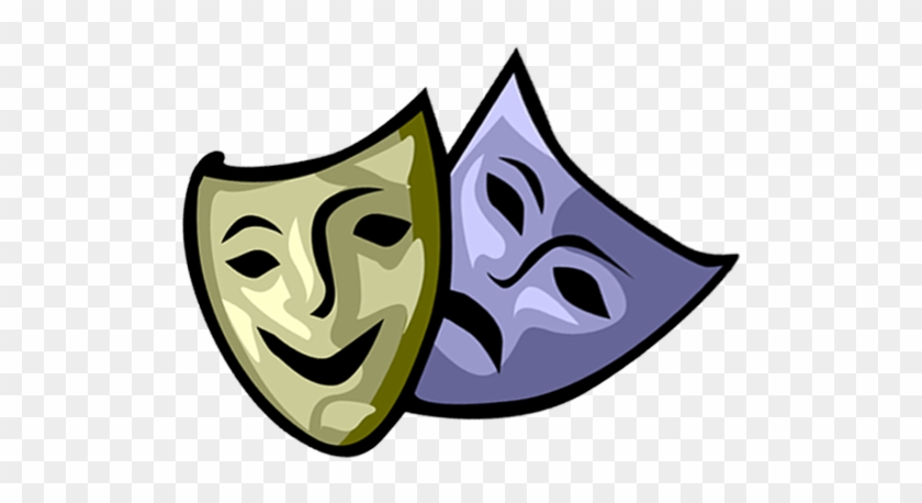 Acting Course - - Comedy & Tragedy Masks Note Cards (pk #786655