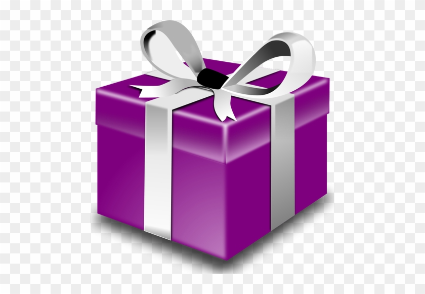 Purple Present Vector Png Happy Birthday Gift Free Transparent