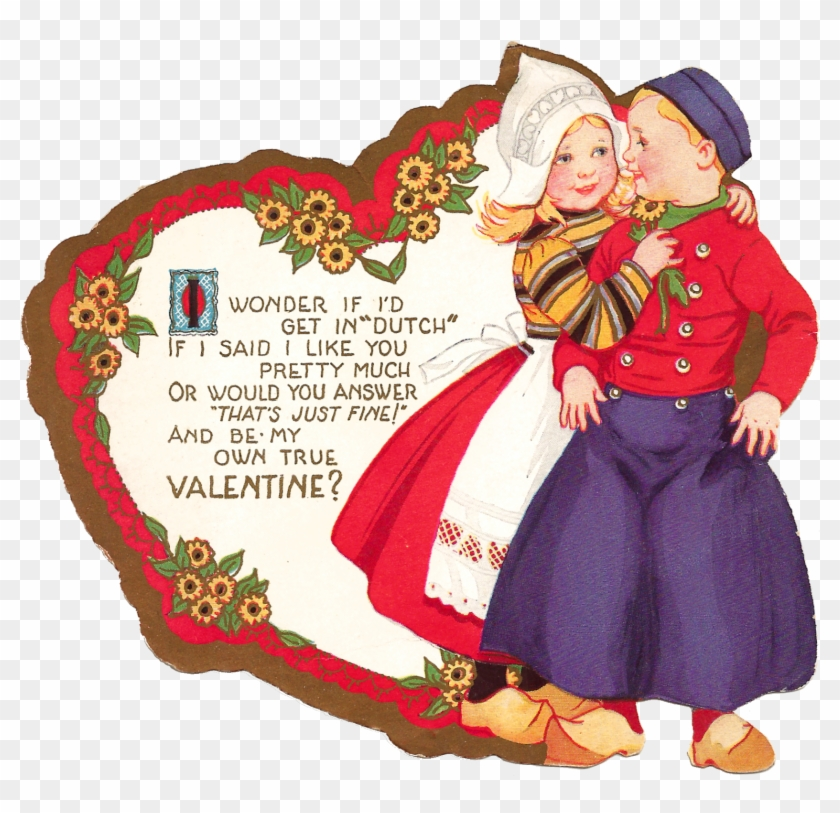 I've Given You A Blank Version Of The Digital Valentine - Vintage Valentine Couple #787564