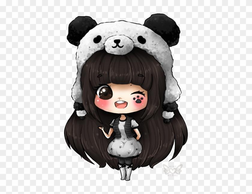 Bonequinhas Kawaii Com Fundos Transparentes, Lindas - Anime Panda Girl Chibi #787839