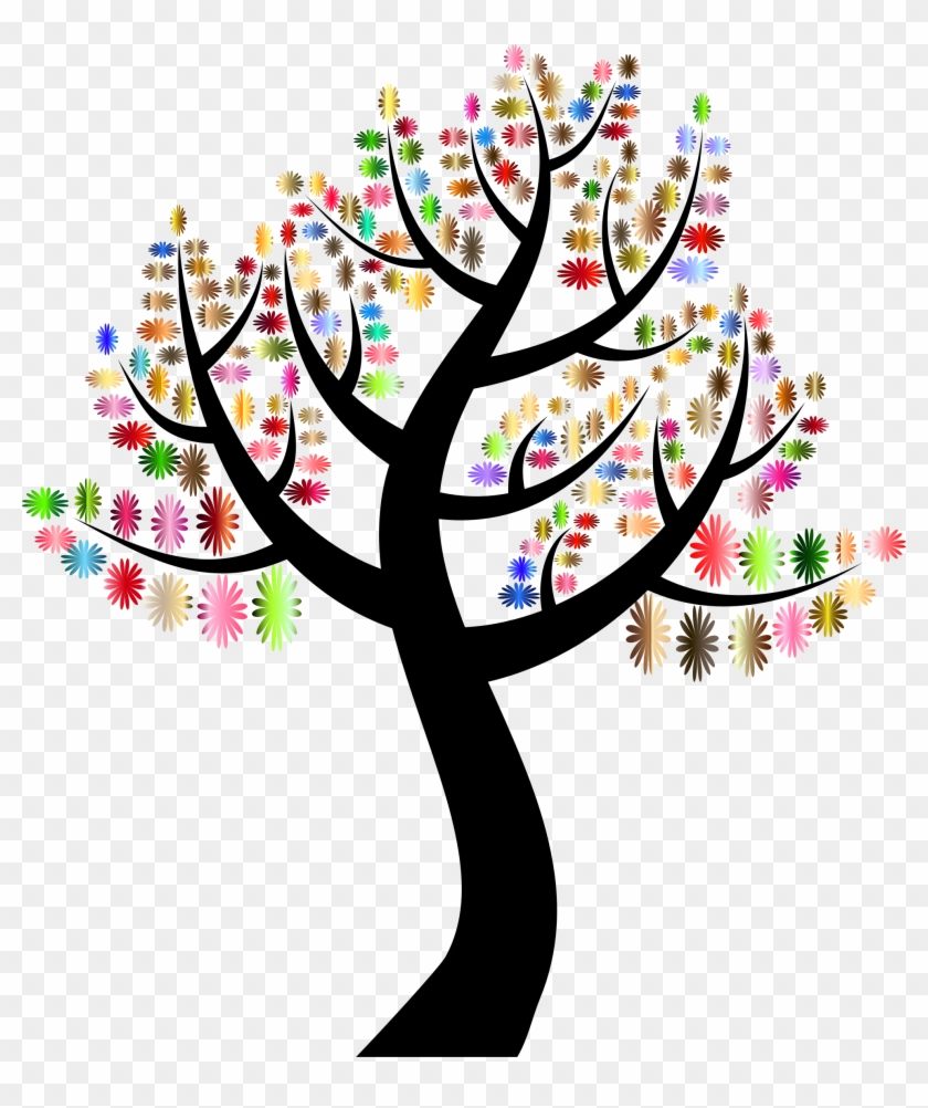 Simple Flowers Tree - Tree With Colorful Leaves #787862