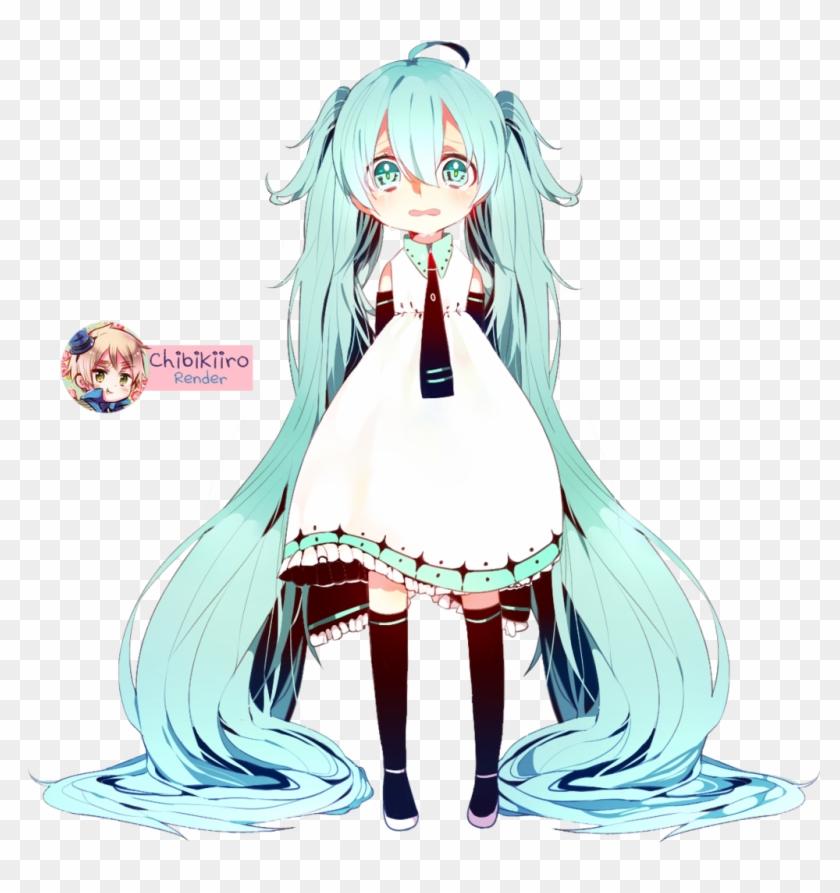 Hatsune Miku Chibi Render By Chibikiiro