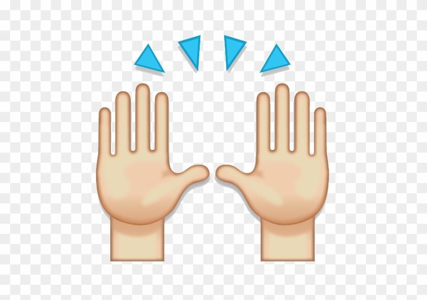 Hand Clipart Emoji - Praise Hands Emoji Png #788157