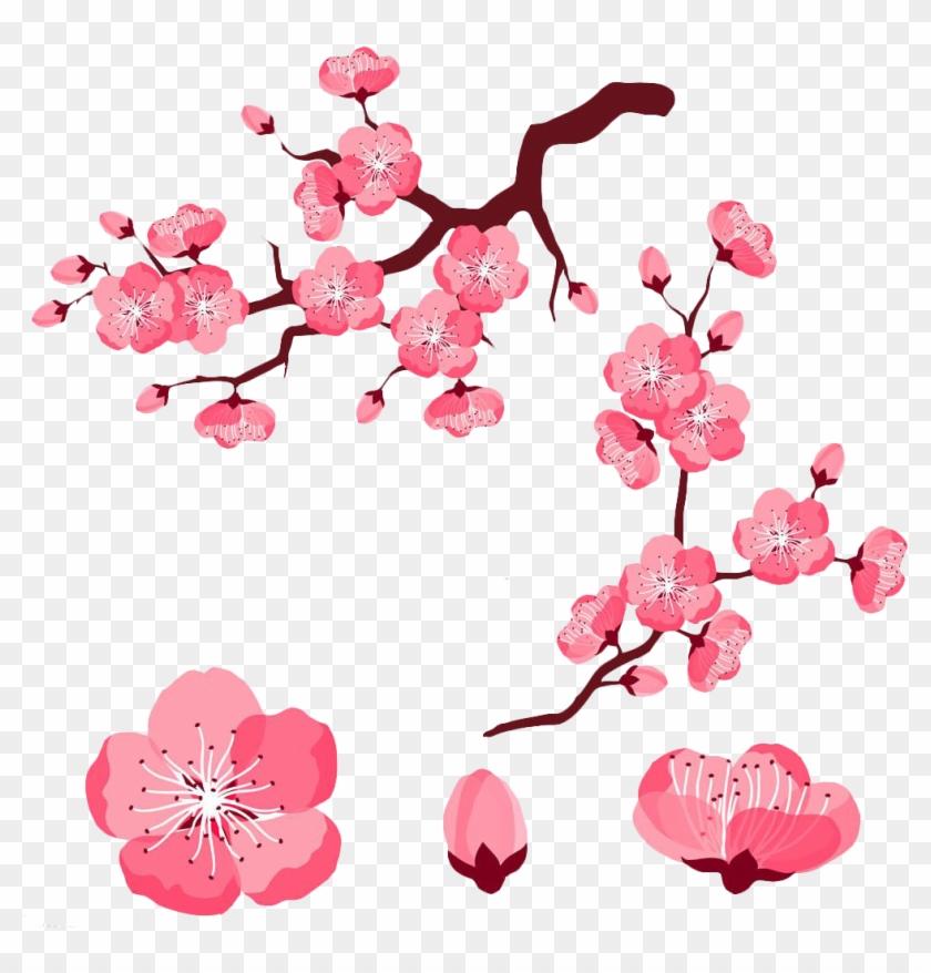 Cherry Blossom Adobe Illustrator Clip Art Pink Cartoon Cherry