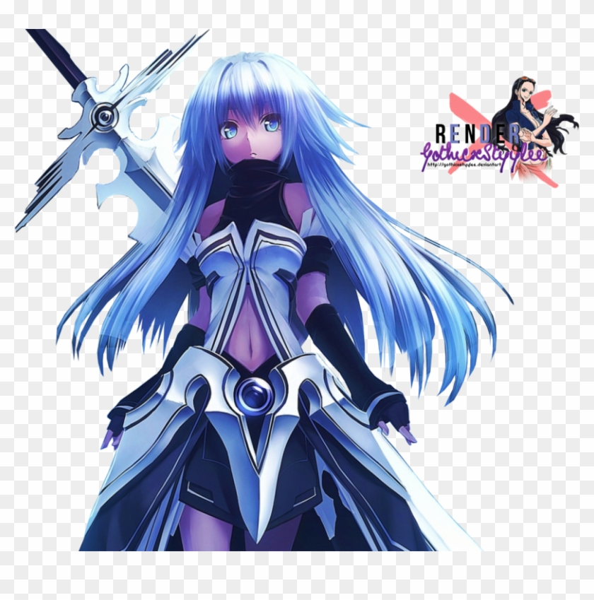 Blue Eyes Weapons Blue Hair Armor Twintails Simple - Anime Girl White Hair Blue Eyes #788260