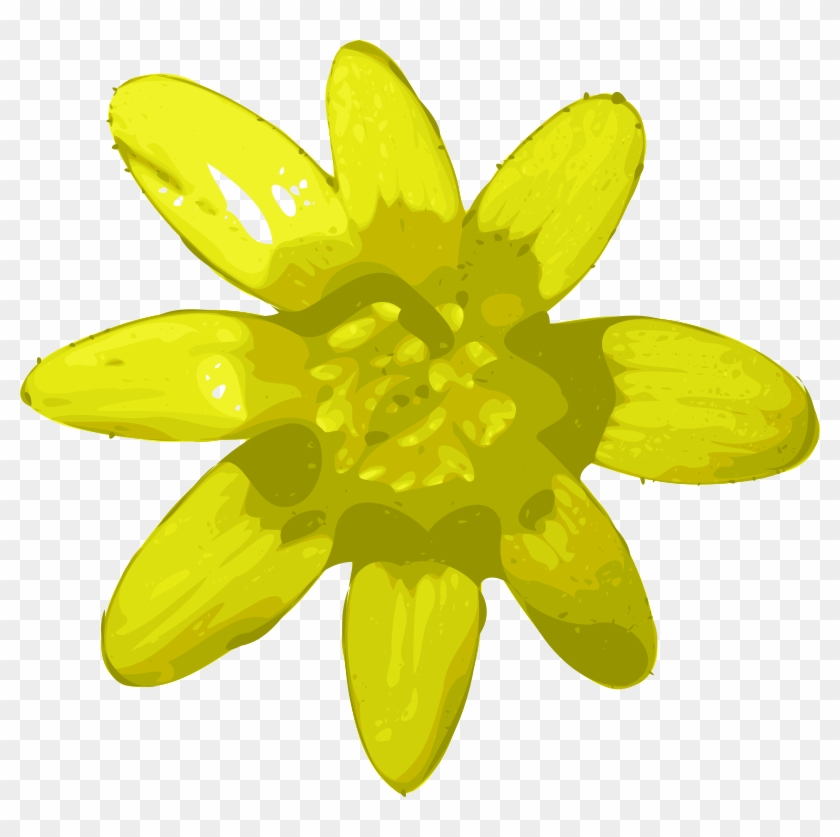 1 - Yellow Flower Clip Art #788344