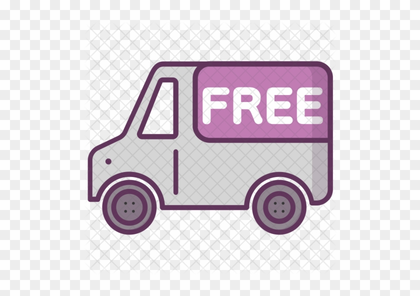 Free, Delivery, Truck, Transport, Package Icon - Delivery Truck Icon Png Pink #788526