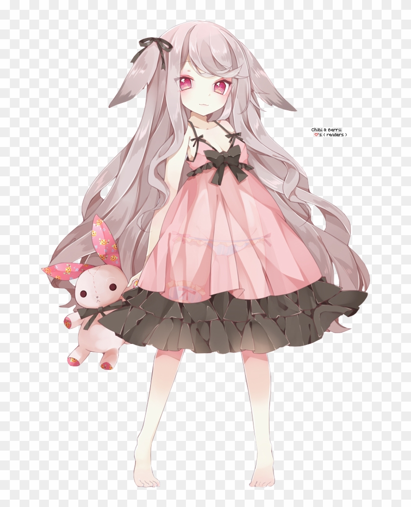 Anime render 36 by michelleurs on deviantart little anime girl with grey hair