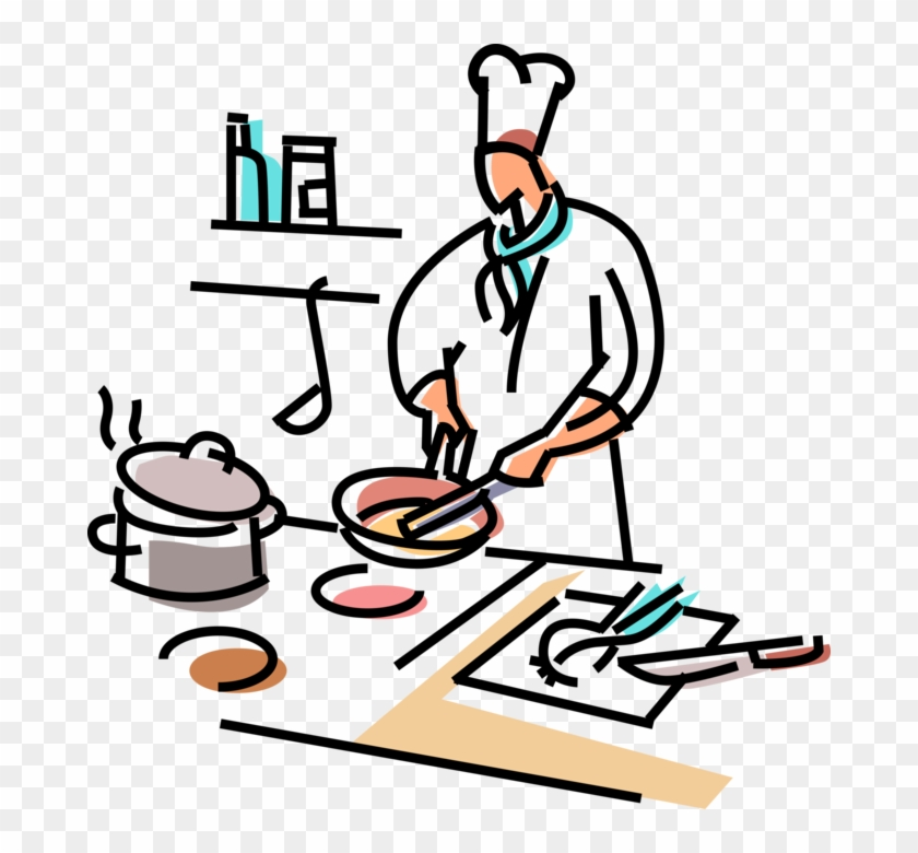 Chief Clipart Line Cook - Chef Preparing Food #788912