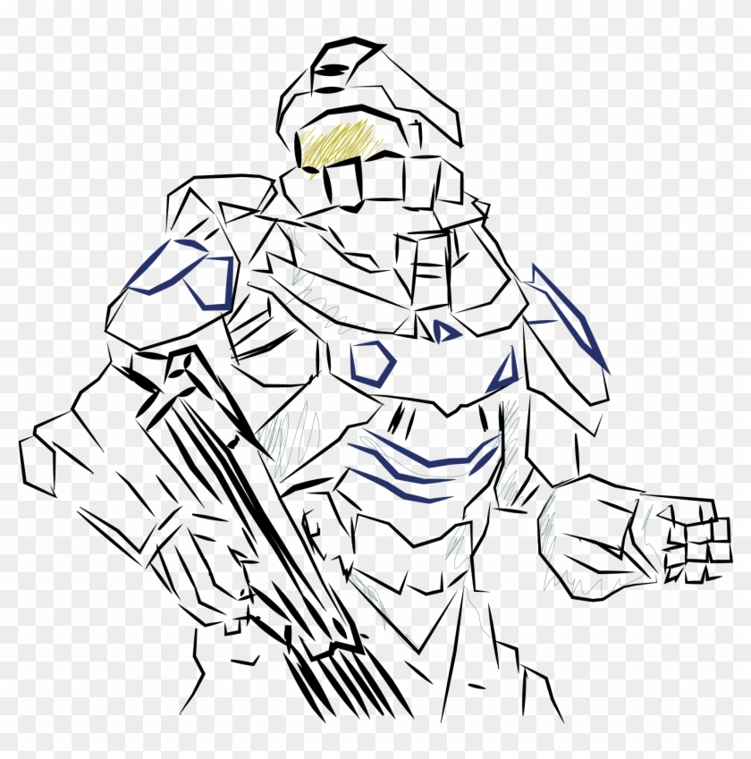 Halo Master Chief Drawing At Getdrawings Com Free For - Halo 5 Spartan Locke Drawing #789058