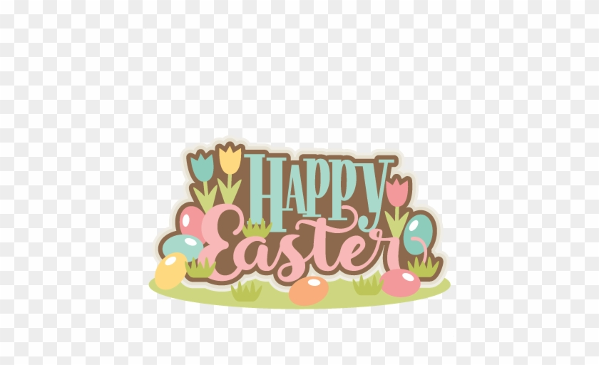Happy Easter Title - Happy Easter Cute Clipart #789597