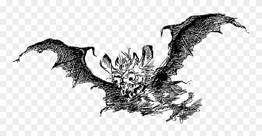 Bat Scary Demon Illustration - Dragon #790479