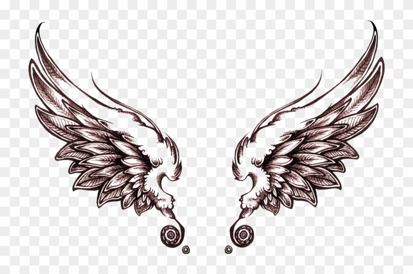Angel Tattoos Png Transparent Images Angel Wings Tattoo Drawing