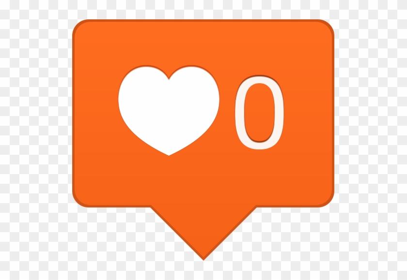 Instagram Likes - Instagram Orange Heart Icon #791783