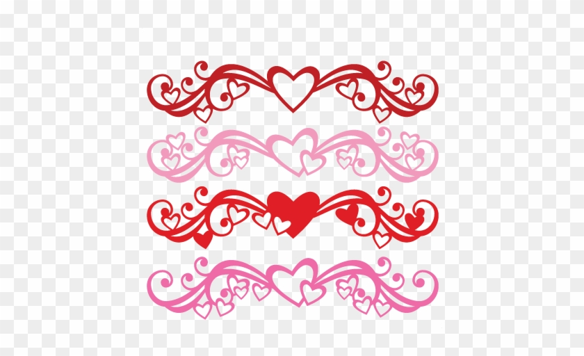 Heart Flourish Set Svg Scrapbook Cut File Cute Clipart - Cricut #791799