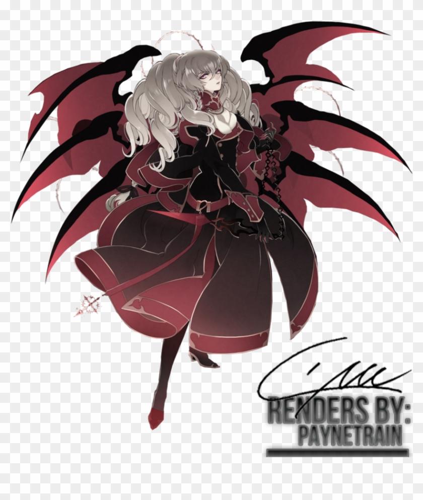 Demon angel wing tattoo demon anime girl render 791816