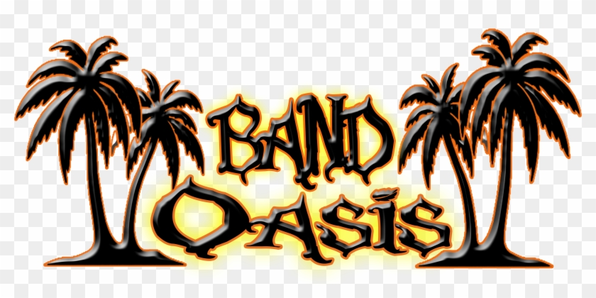 Band Oasis Band Rehearsal Studios - Tropical Palm Trees Decal Sticker (black, 14 Inch) #792524