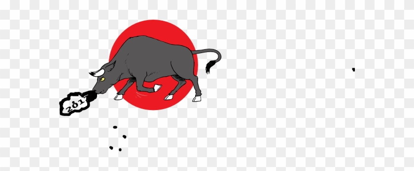 Snorting Bull 2012 Clip Art Vector Clip Art Online - Cattle #792527
