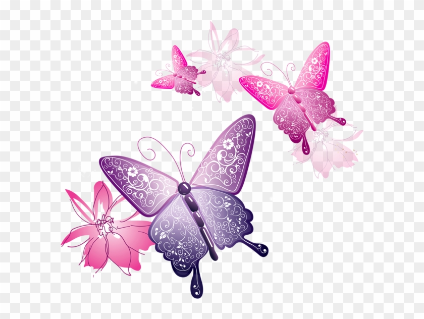 graphic regarding Cute Printable Notebook Paper named Spring Bouquets And Butterflies Border Down load - Lovely