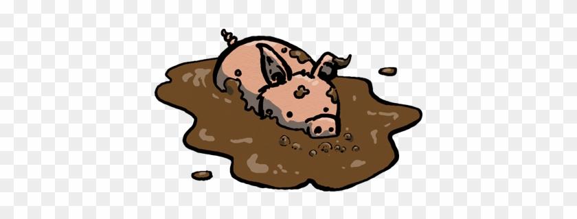 I Was Coming Up Blank On A Pig Illustration Idea, So - Illustration #793436