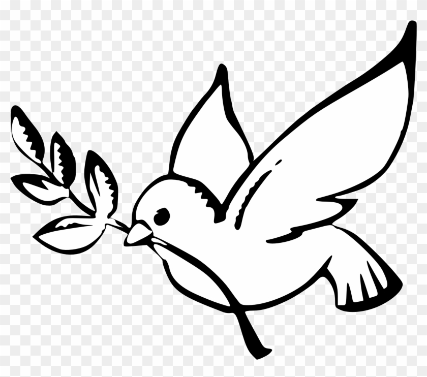 Drawn Dove Easy Dove Symbol Of Peace Free Transparent Png