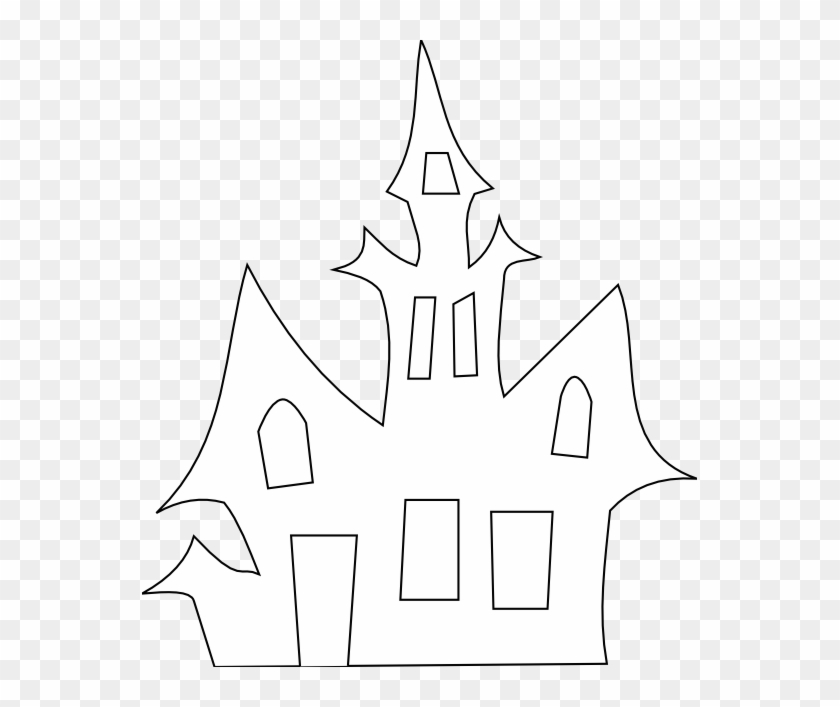 Door Clipart Haunted - Clipart Haunted House Black And White #795424