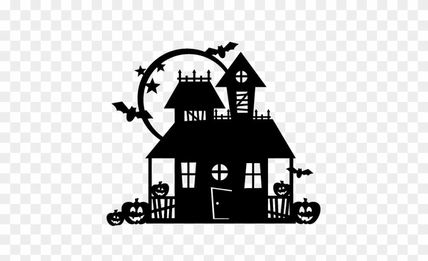 Halloween Haunted House Scrapbook Cut File Cute Clipart - Haunted House #795428