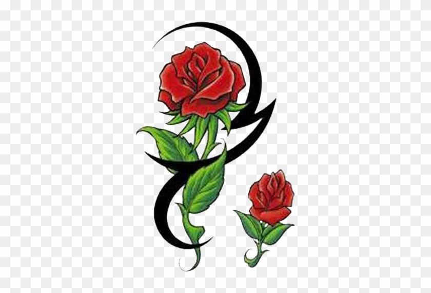 Rose Tattoo Clipart Rose With Tribal Tattoo Free Transparent Png