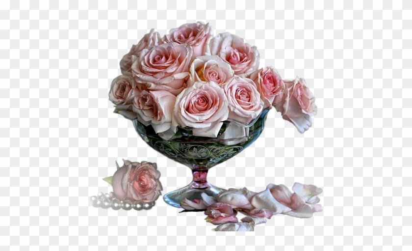 Fleur Vase Pearls And Roses Flowers Free Transparent Png Clipart