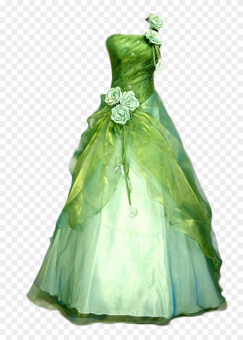 Ball Gown Clipart - Beautiful Green Wedding Dresses - Free