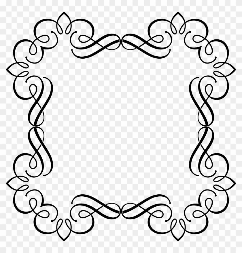 Big Image - Decorative Frame Border - Free Transparent PNG Clipart ...