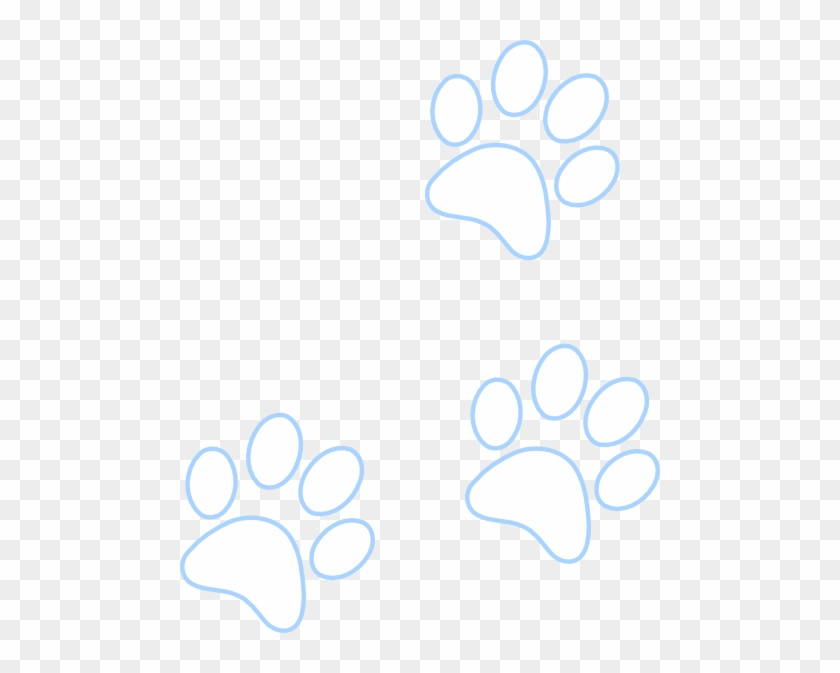 Blue Paw Outline Pattern - Circle - Free Transparent PNG