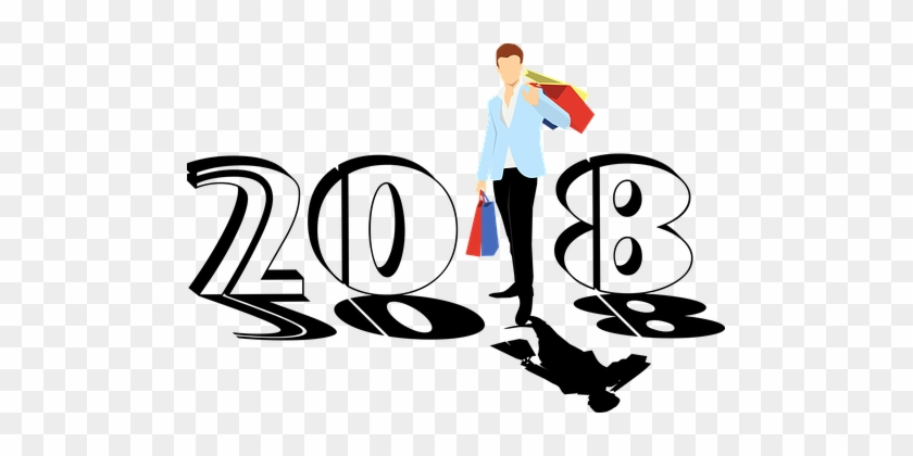 New Year, 2018, Bags, Colorful, Man - Wishing Happy New Year 2018 #798760