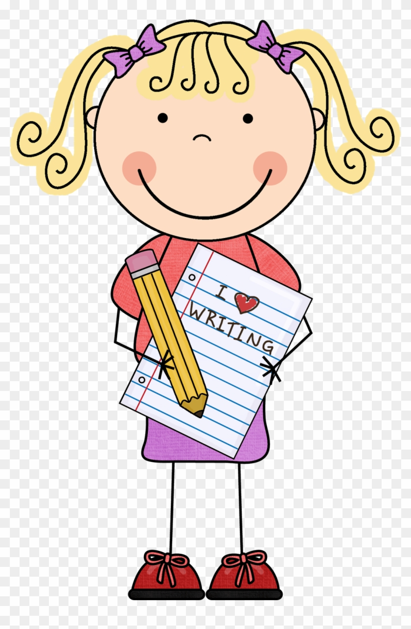 Cute Kids Writing Clipart